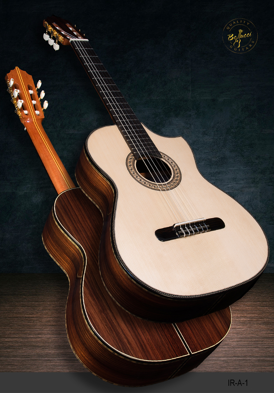 Indian rosewood B&S, Italian Spruce top, Indented Cutaway, Model IR-A-2