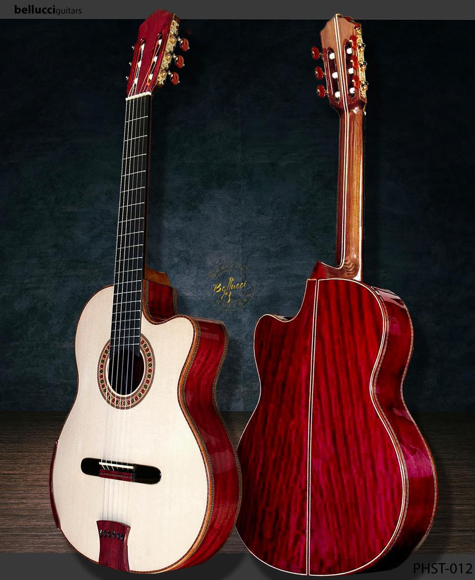 Bellucci, Purple Heart B&S, Italian Spruce Double top, Model PHST-012