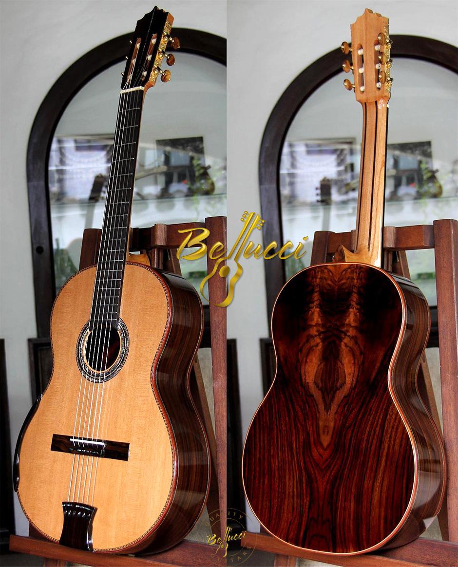 "Indonesian Rosewood B&S Cedar Top, MODEL FIR114, ""Aries Guitar"""