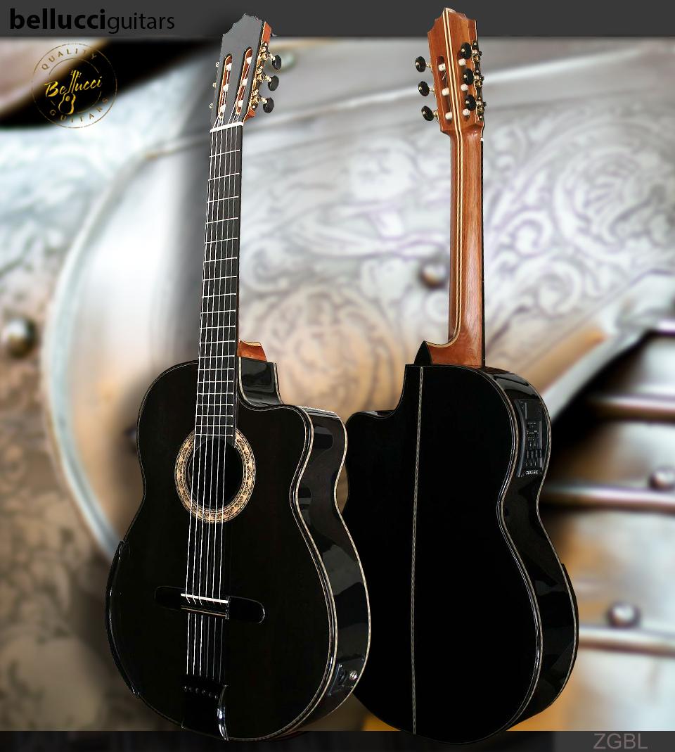 Gabon Ebony Back and Sides, Italian Spruce Top, Guitar Model ZGBL