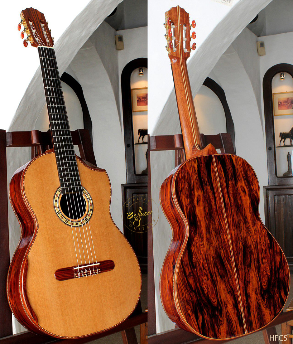 Cocobolo B&S, Cedar Top, Indented Cutaway. Order Model HFC5 HERE>>