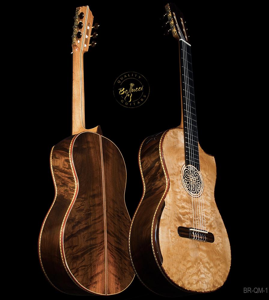 Brazilian Rosewood B&S, Maple Top, Da Vinci Series, Doubletop Model BR-QM-1