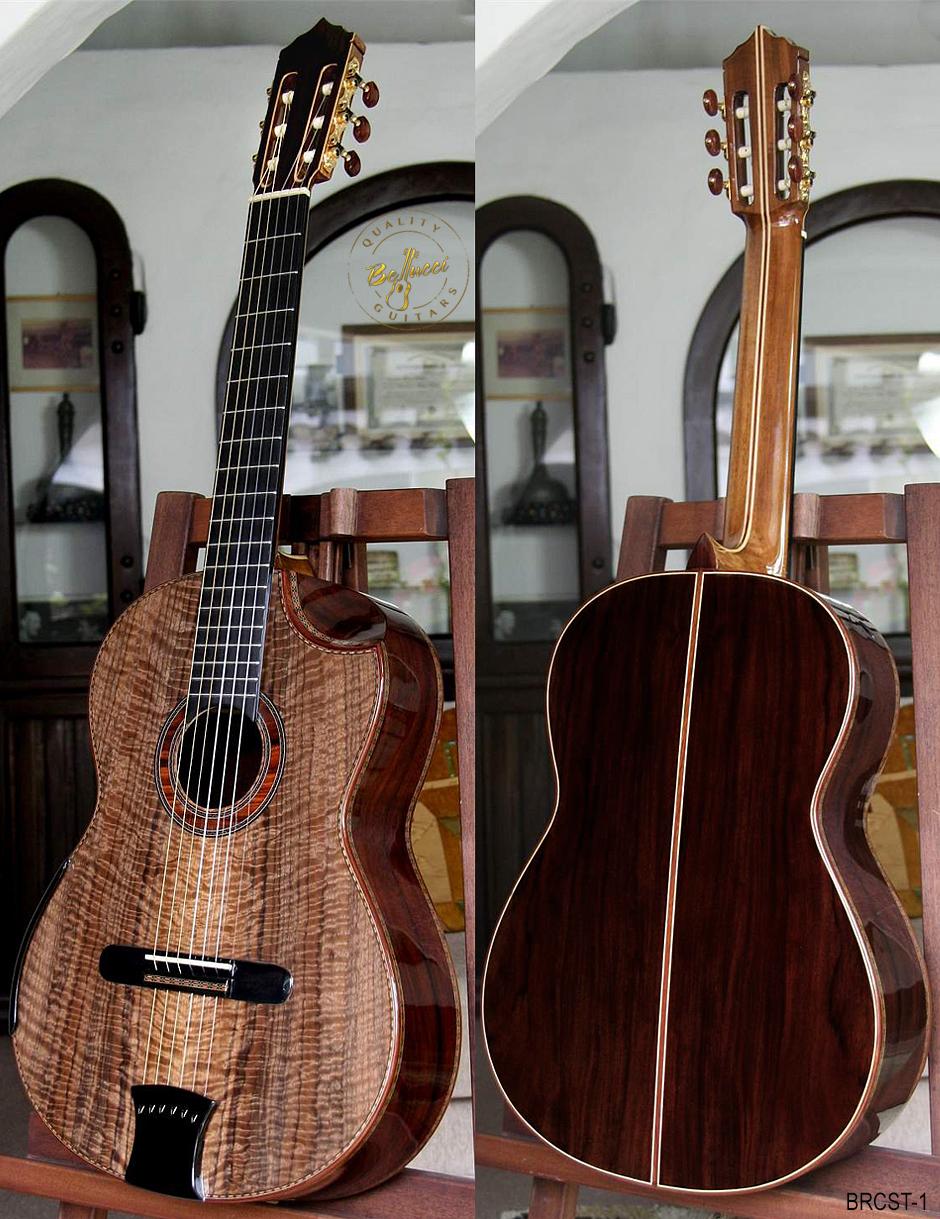 Brazilian Rosewood B&S, Figured Walnut Top, Doubletop, Model BRCST-1