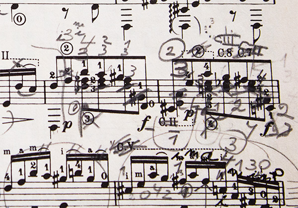 Detail of my score