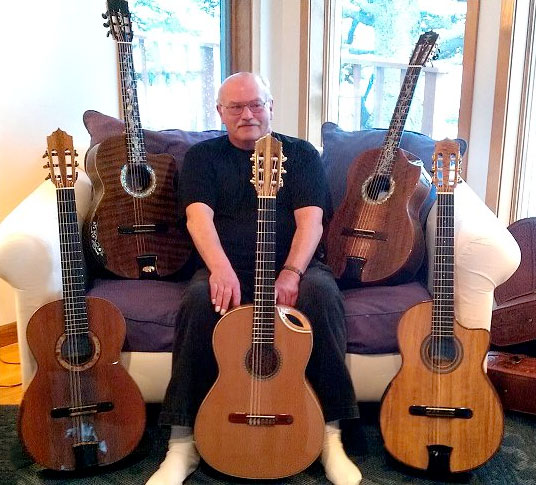 Gary with his Bellucci Guitars Collection