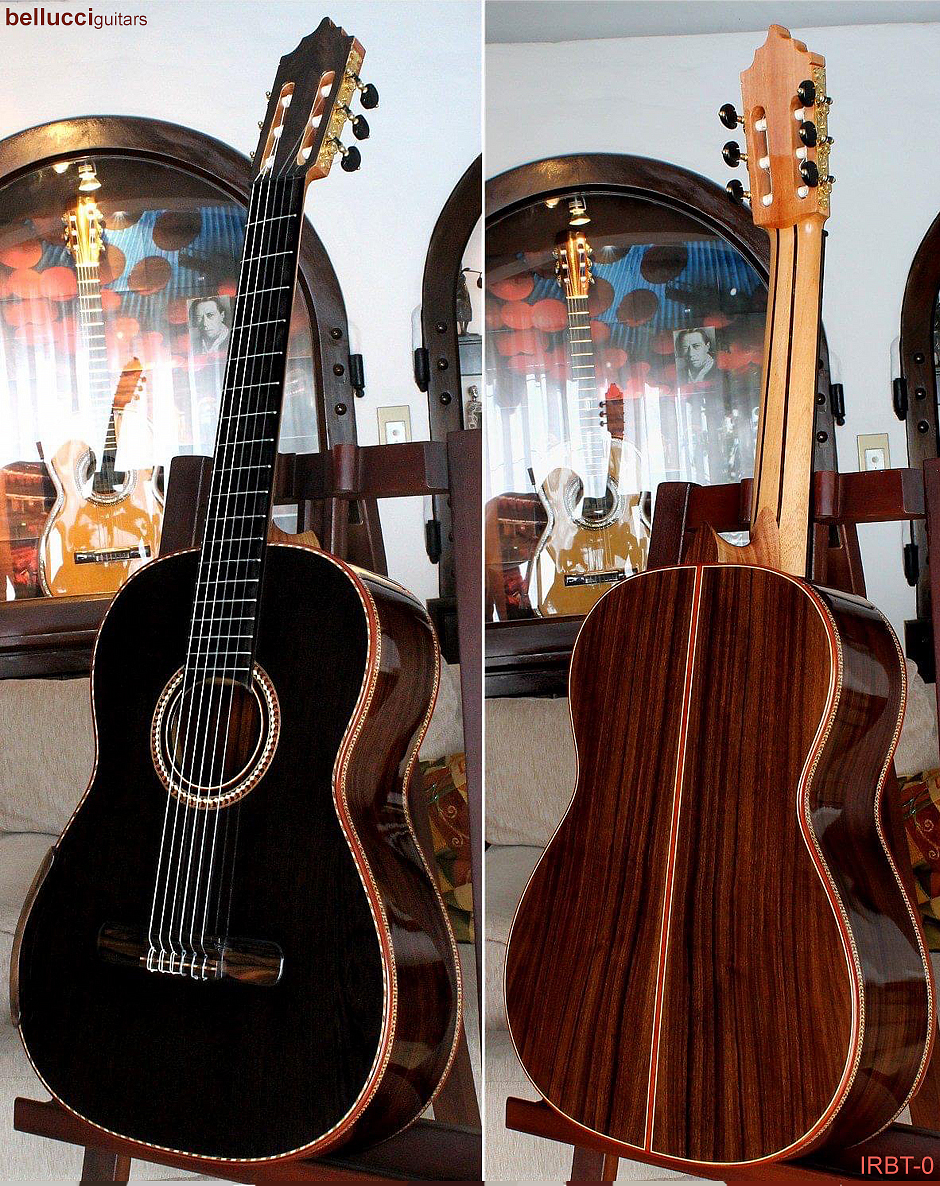 Indian Rosewood B&S, Sinker Redwood Top, Order the IRBT-0 Bellucci guitar model HERE>>