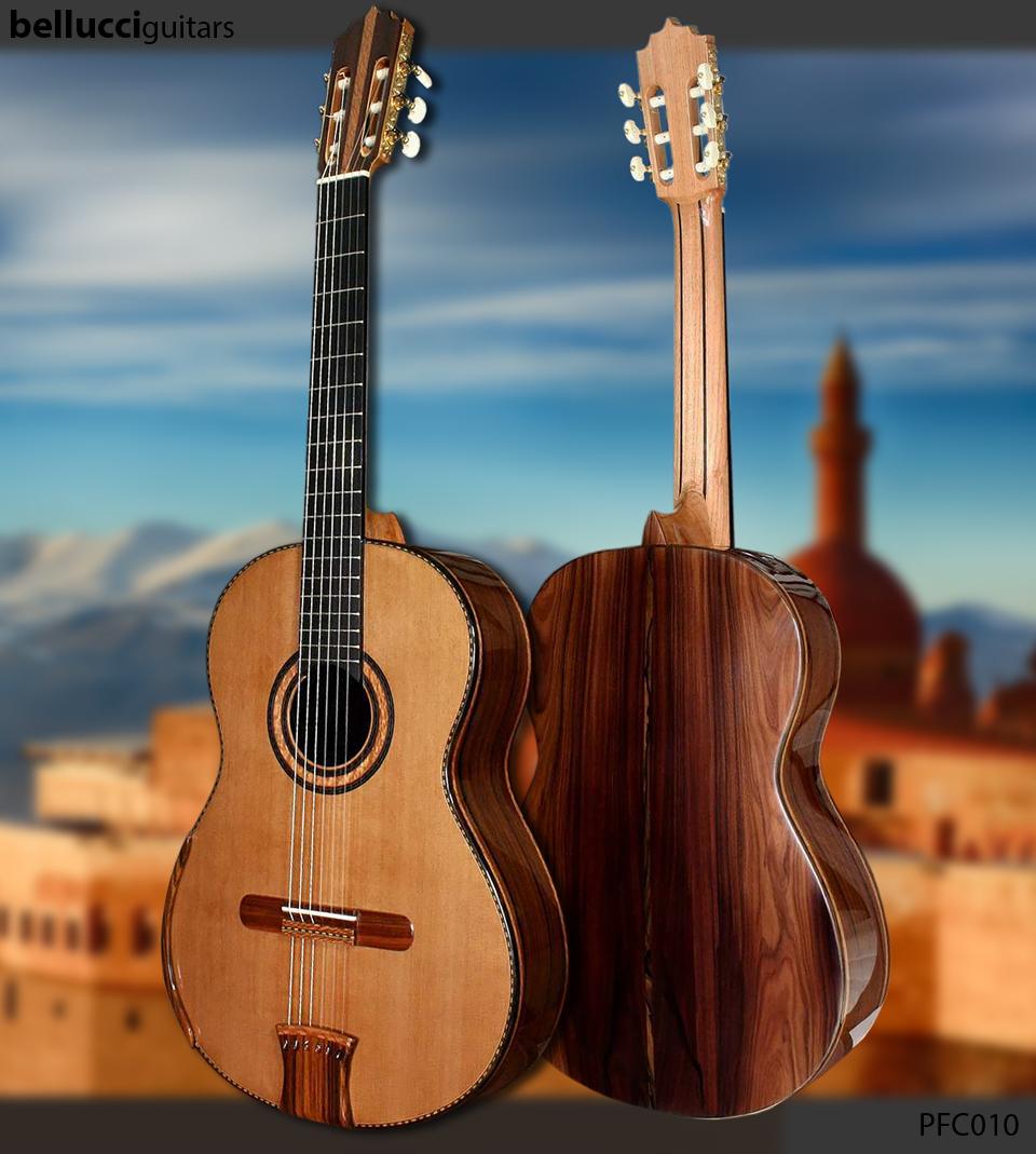 Bellucci Pau Ferro B&S,Western Redcedar top, Guitar Model PFC010
