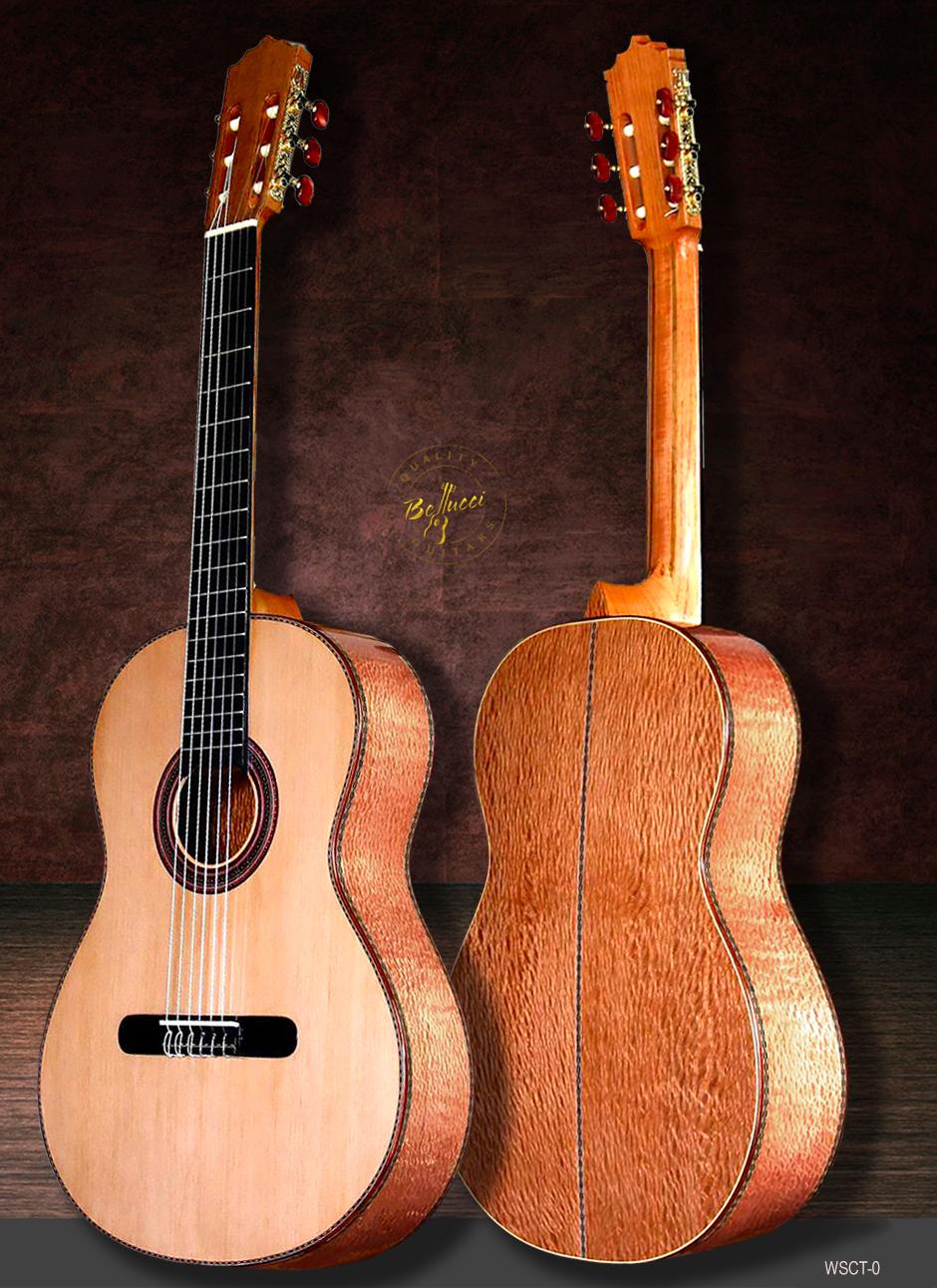 "Lacewood B&S, Cedar Top, ""White Snake Guitar"", Order Model WSCT-0"