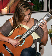 Ana Vidovic playing bellucci guitars