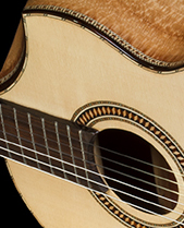 Bellucci Guitars | Leopardwood back and sides, Spruce top Concert Classical Guitar