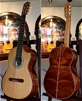 African Rosewood B&S, Lattice braced Cedar Double top Concert guitar
