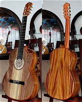 Tasmanian Blackwood B&S, Hauser braced Sinker Redwood top Concert guitar