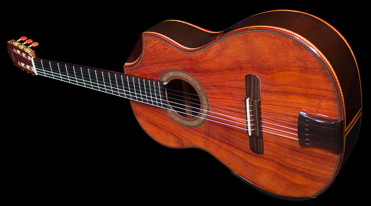 Mangore | Bellucci Guitars - Indonesian Rosewood B&S, Figured ...
