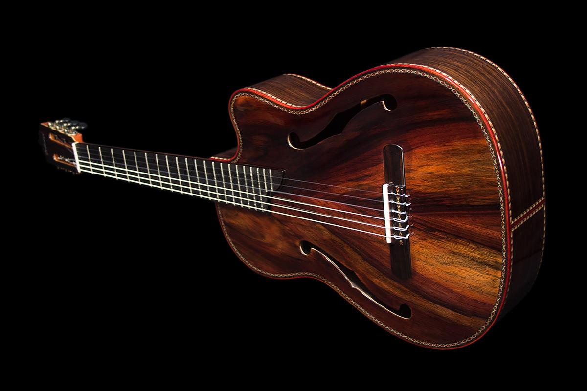 Mangore Bellucci Guitars Indonesian Rosewood Back
