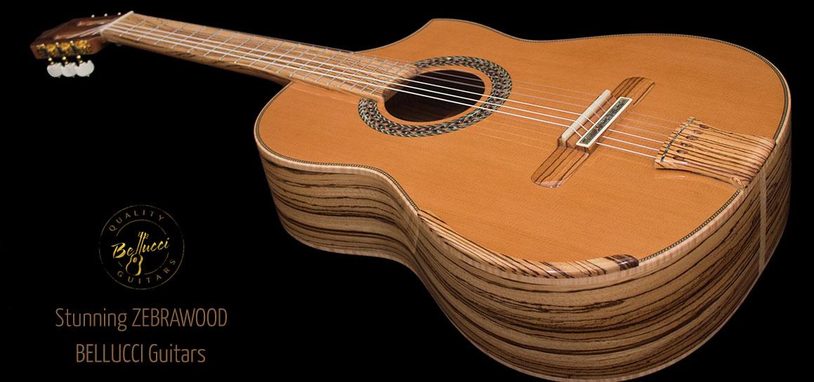 Mangore Bellucci Guitars Zebrawood B Amp S Cedar Top