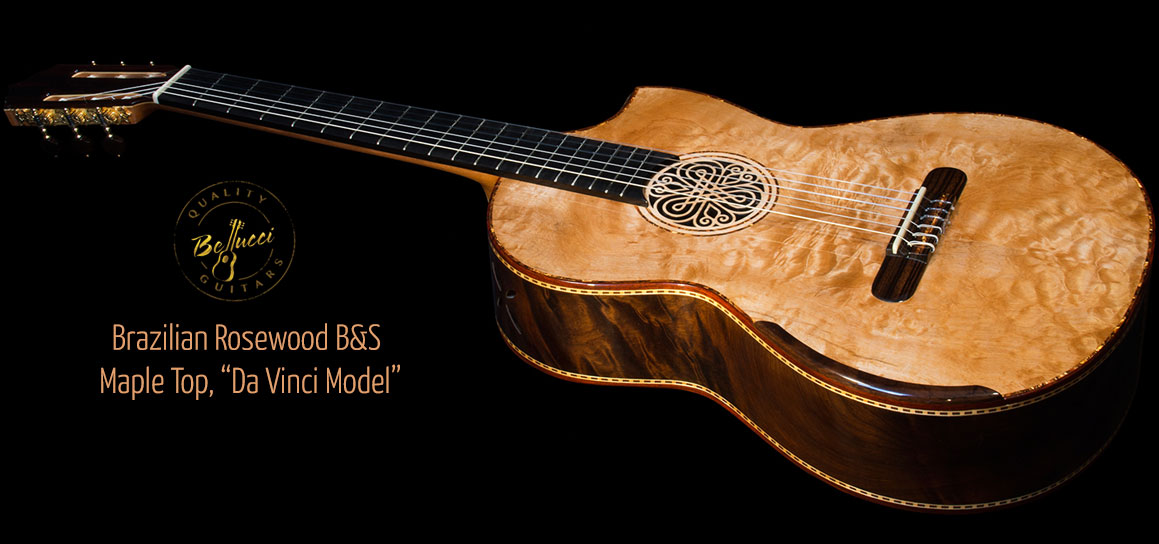 Mangore | Bellucci Guitars - Brazilian Rosewood B&S, Quilted Maple ... : quilted maple guitar tops - Adamdwight.com