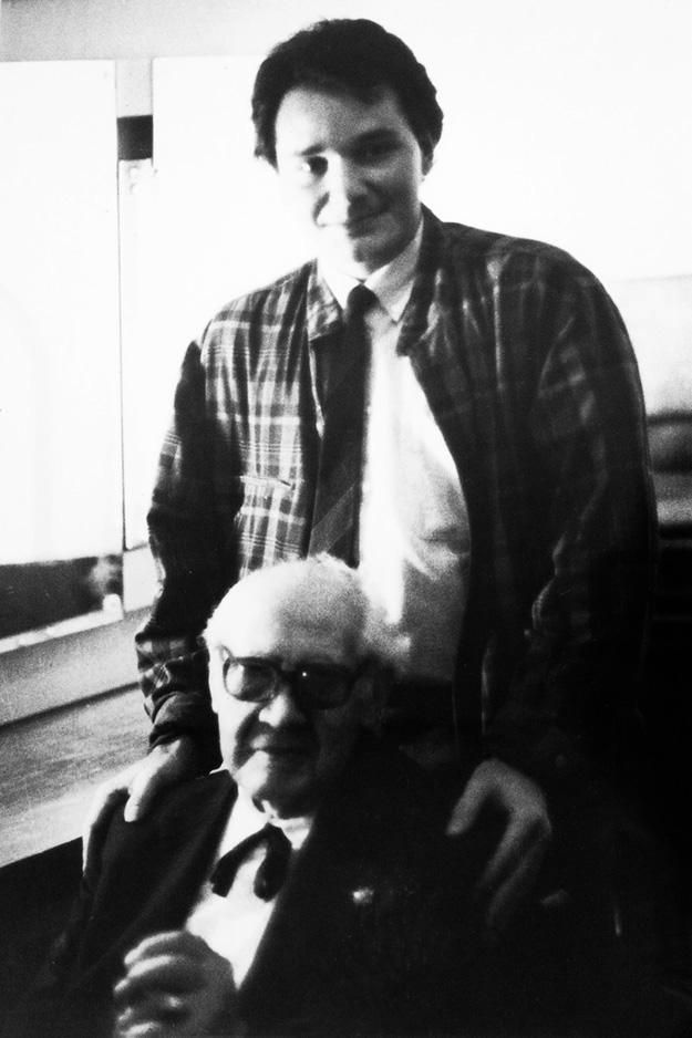 The one maestro that influenced me the most is undoubtedly Abel Carlevaro.  Renato With Abel Carlevaro in Montevideo, 1986