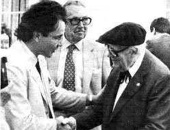 Andres Segovia with Renato at USC 1986.