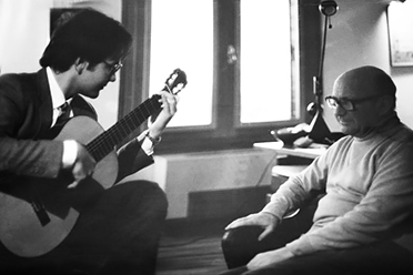 Renato Bellucci With Narciso Yepes in Las Rozas, Spain 1984
