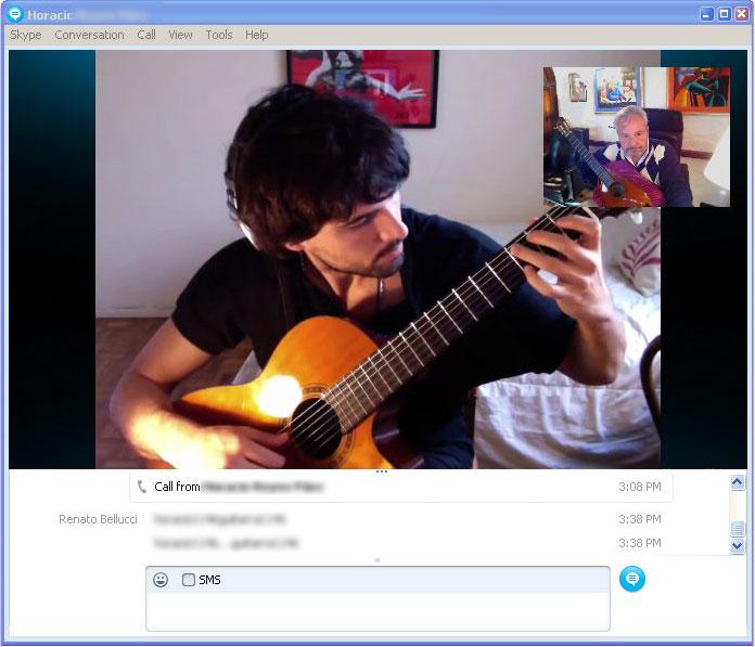 alunno di Renato Bellucci, Skype masterclass