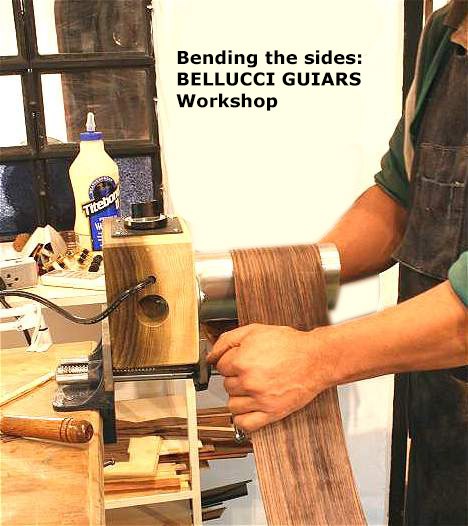 Bending the sides of the guitar