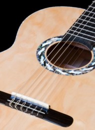 How to put the strings on a classical guitar