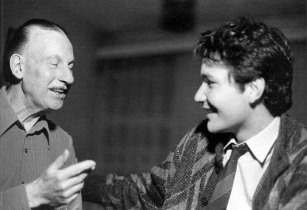 Renato Bellucci with Maestro Abel Carlevaro, Montevideo, 1986