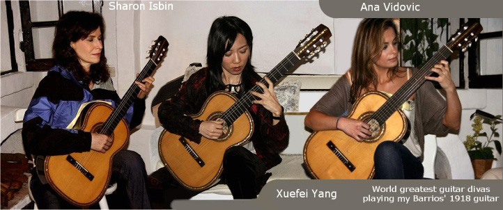 Ana Vidovic, Xuefei Yang and Sharon Isbin