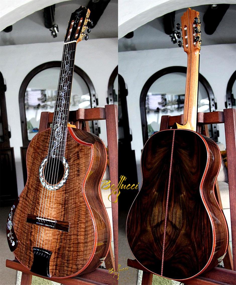 Bellucci Indonesian Rosewood B&S,  Figured Walnut Top,  MODEL CSR108
