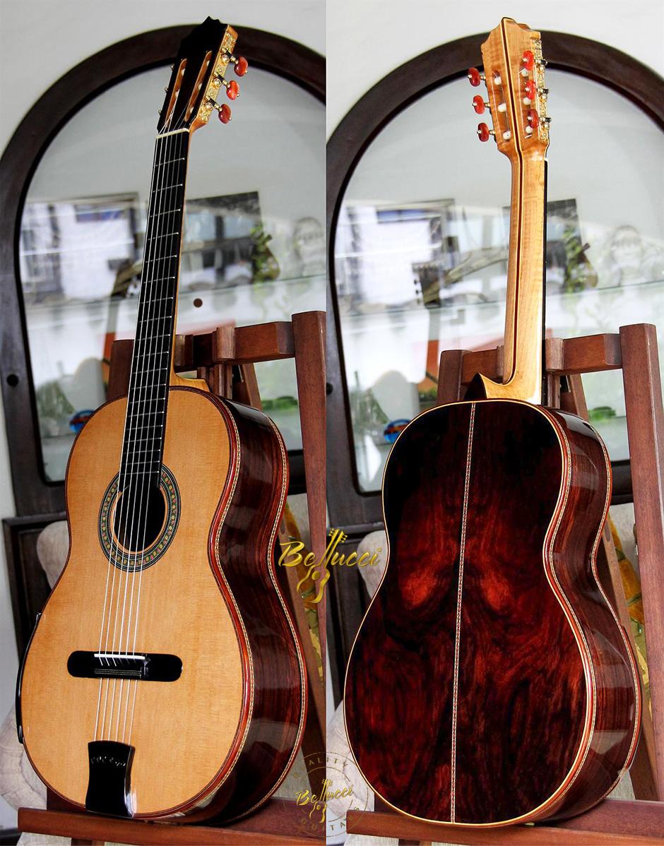 Brazilian Rosewood B&S, Lattice braced Cedar Top, Order MODEL BRC14.