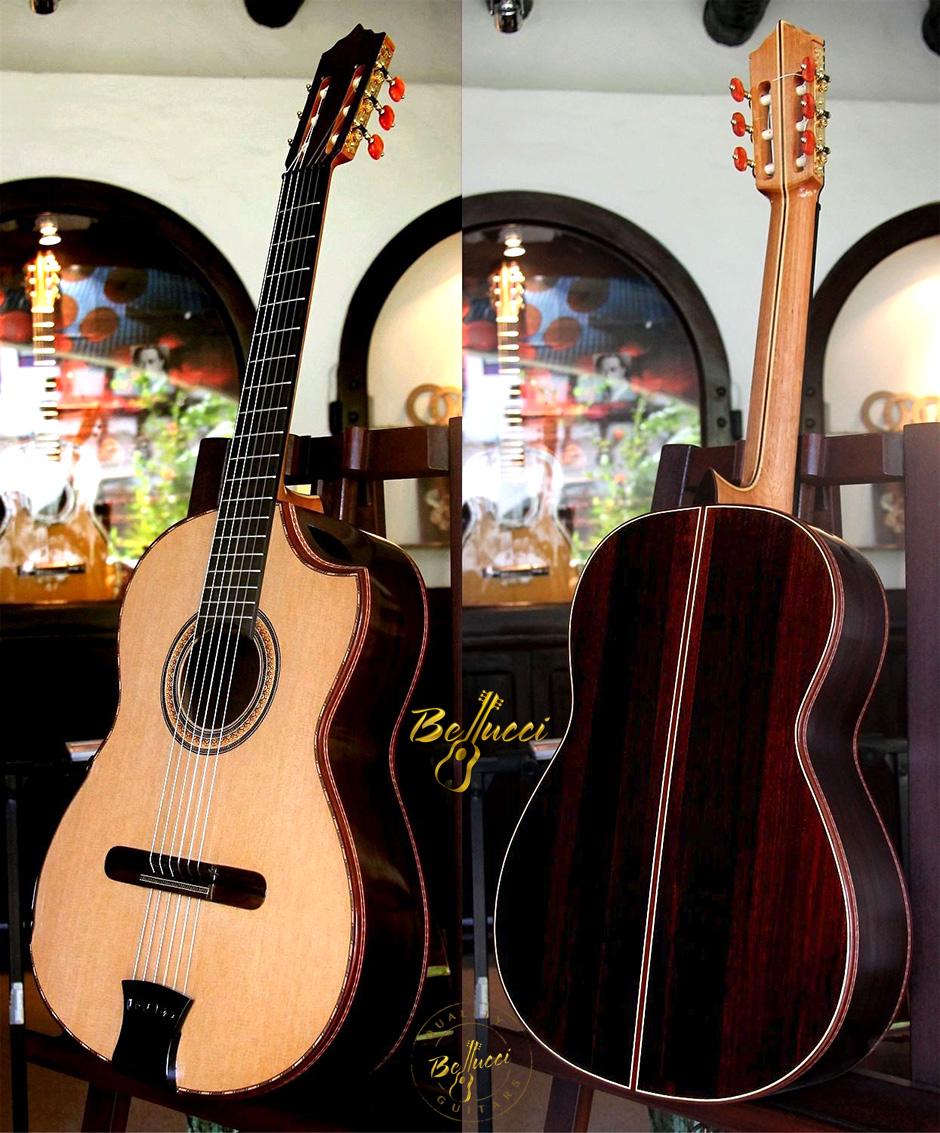 Brazilian Rosewood B&S, Cedar Top, Indented Cutaway. Buy MODEL BRC52