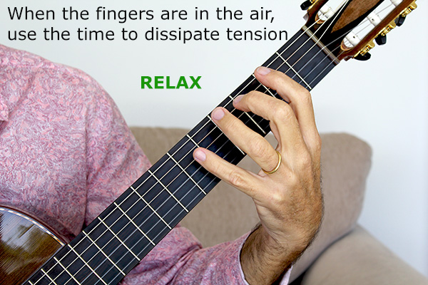 Relax the left hand