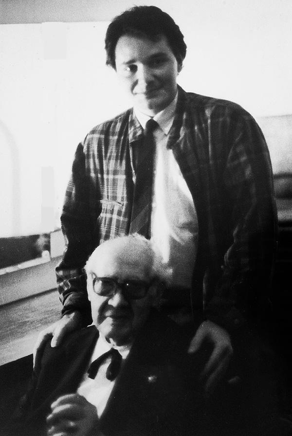 Renato Bellucci with Andres Segovia, USC LA, 1986