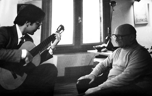 Renato Bellucci with Narciso Yepes, Las Rosas 1985
