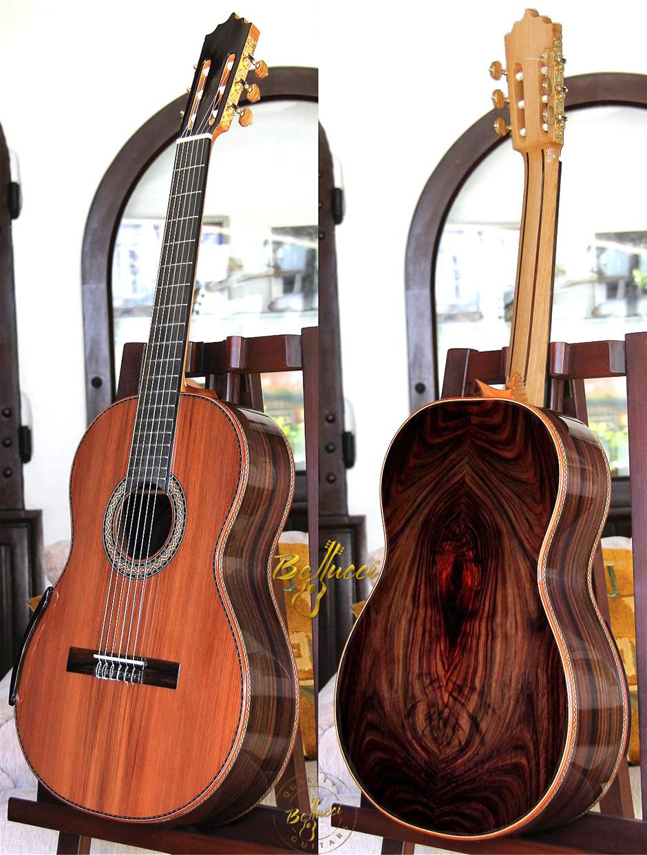 Figured Indonesian Rosewood B&S, Sinker Redwood top beauty. Order MODEL HFIR45