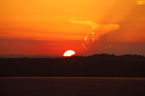 Sunset from home in San Bernardino