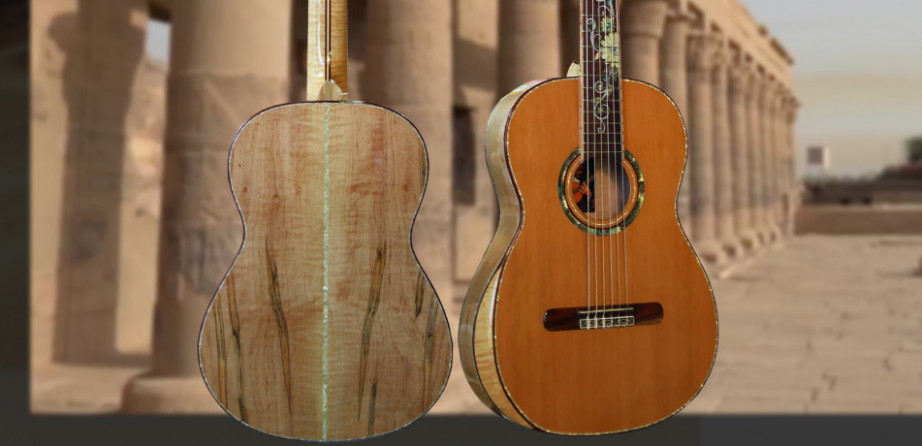 Small Body 630mm Ambrosia Maple Concert Classical Guitar