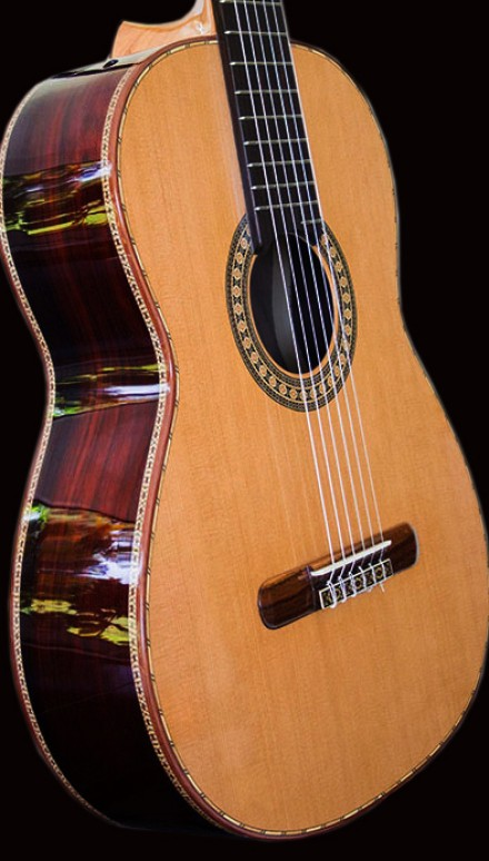 Indonesian Rosewood B&S Cedar Top Jewel Concert Classical Guitar