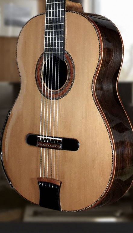African Walnut Cedar Top Beauty Concert Classical Guitar