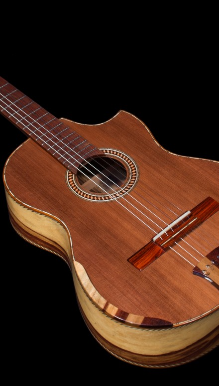 Tamarind B&S, Sinker Redwood top Concert Classical Guitar
