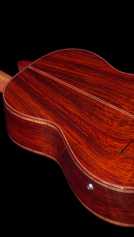 Cocobolo B&S, Franquette Walnut top Concert Classical Guitar