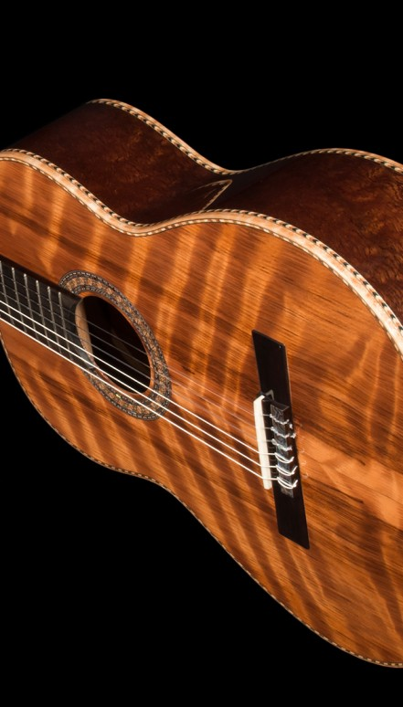 Curly Sapele B&S, Curly Sinker Redwood top Concert Classical Guitar