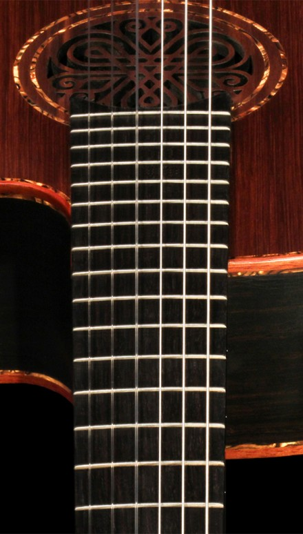 African Blackwood B&S, Sinker Redwood Doubletop Concert Classical Guitar