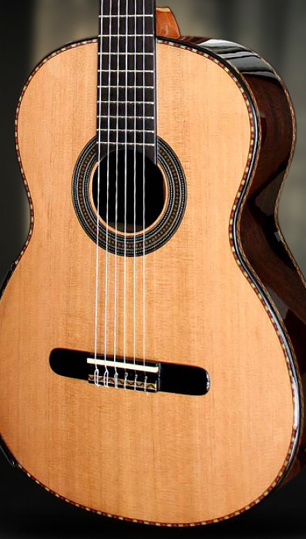 African Blackwood B&S Cedar Top Concert Classical Guitar