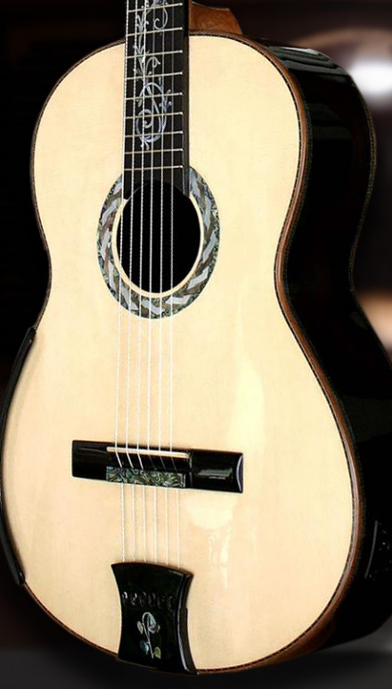 African Blackwood B&S Italian Spruce Top Concert Classical Guitar