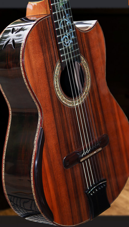 Custom African Blackwood Back & Sides Masterpiece Concert Classical Guitar