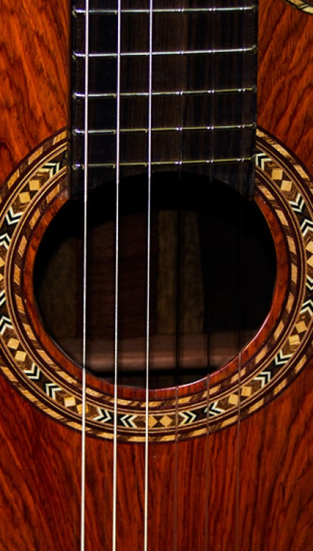 Indonesian Rosewood B&S, Cocobolo Hauser Top Concert Classical Guitar