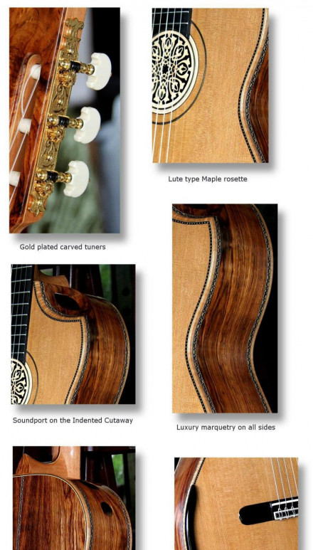 Bellucci Da Vinci Series, Granadillo B&S, Cedar Top Concert Classical Guitar