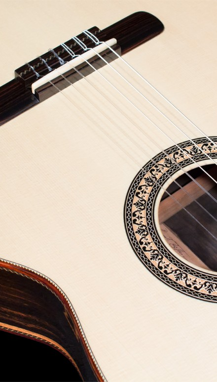 Macassar Ebony B&S, Spruce top Concert Classical Guitar