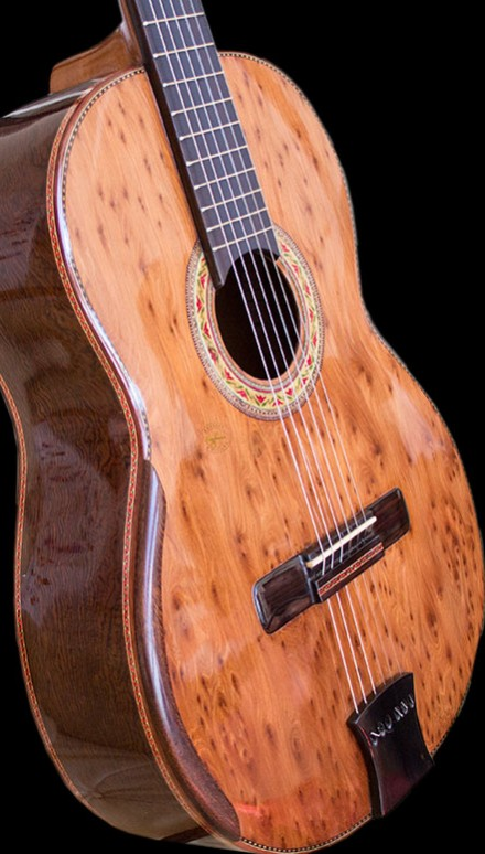 Curly Sapele B&S Concert Classical Guitar